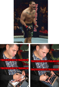 "CAIN VELASQUEZ signed Autographed ""UFC"" 8X10 PHOTO c PROOF - UFC Champ COA"