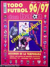 DON BALON EXTRA TODO FUTBOL 96-97 REAL MADRID-BARCELONA-BORUSSIA DORTMUND-ETC