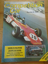 Competition Car magazine No 8 1972 Fiat 128 Sports Coupe, Jochen Mass