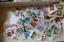 approx 500g used UK British Xmas postage stamps philately kiloware postal