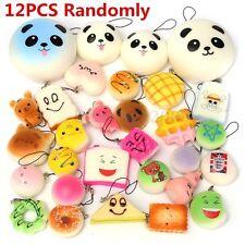 12PCS Mini Casuale Squishy Pane Cinghie del Cellulare Amaretto/Donuts/Focacce