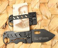 New Money Black Super Slim Clip Line Lock Folding pocket Saber Knife Blades