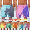 Men's Quick Dry Pocket Swimwear Shorts Swim Trunks Boardshorts Color Changing