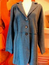 Women's Plus sz 2X Boiled 100% Wool Jacket Coat Peacock Blue