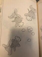 Drawing Japanese Kingyo Goldfish Tattoo Art Reference Book Irezumi Koi Horimono