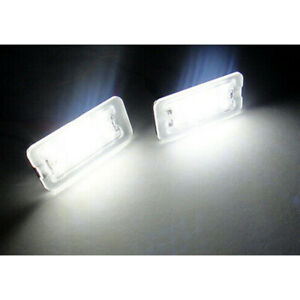 2x LED Licence Number Plate Light White For Canbus 07+ Fiat 500 500C 312 Abarth