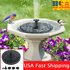 Outdoor Solar Fountain Powered Water Pump Bird Bath Floating Pond Garden Pool US