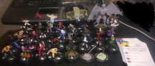 Marvel HeroClix Lot of 35 Figures Iron Fist Red She Hulk Wasp Red Skull Valkyrie