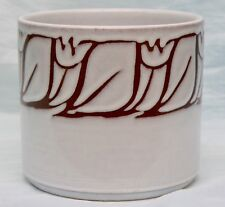 Poole Pottery Cachepot or  Utensil Jar Pattern No. 498 Signed by Artist ABC M