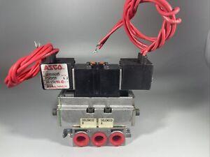 New asco U8401A105 pneumatic double solenoid valve  120 volts 20-150 psi