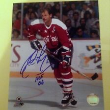 Rod Langway autographed 8*10 Canadians photo w/ 2002 HOF & 1979 Stanley Cup insc