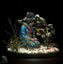 Onna-bugeisha after the battle Tin Painted Toy Soldier Pre Sale | Museum Quality