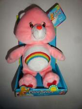 "Care Bears CHEER BEAR New Box Pink Rainbow Plush Toy 8"" Box is warped"