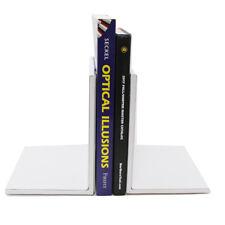 "Artistic Architect Bookends 2 White 6.75"" x 5"" x 6.75"""
