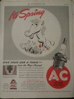 1941 AC Spark Plugs Mr Cleenie The Horse Its Spring Give Your Car A Tonic Ad