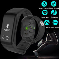 F1 Fitness Blood Pressure Oxygen Heart Rate Monitor Smart Watch Bracelet Band CY