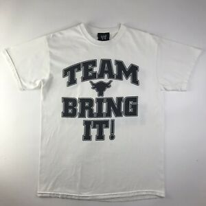 WWE The Rock Team Bring It T-Shirt Wrestling Dwayne Johnson Distressed Tee Med