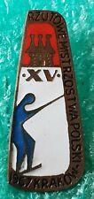 XV POLISH FISHTING CHAMPIONSHIPS 1967 KRAKÓW POLAND OLD PIN BADGE