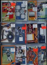 HUGE PREMIUM PATCH AUTO JERSEY ROOKIE INSERT #'D SPORTS CARD COLLECTION LOT $$