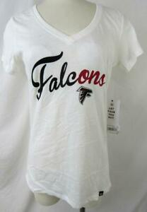 "Atlanta Falcons Women S M L or XL Screened ""FALCONS SCRIPT"" T-shirt AFAL 248"
