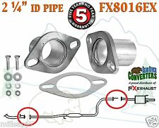 """2 1/4 """"ID Universal QuickFix Exhaust Oval Flange Repair Pipe Kit Gasket FX8016EX"""