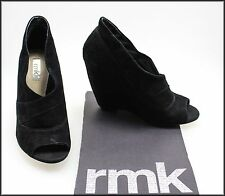 RMK WOMEN'S FASHION WEDGED HEELED OPEN TOE SUEDE SHOES SIZE 8 AUST 39 EURO NEW