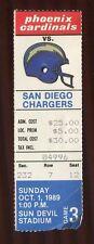Ticket Football Arizona Cardinals 1989 10/1 San Diego Chargers
