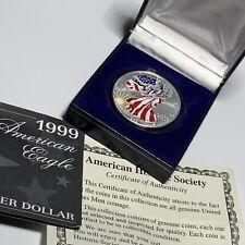 1999 American Eagle Walking Liberty 1 Troy oz .999 Silver Colorized $1 Dollar