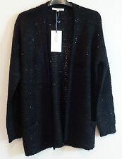 Love Knitwear Open Black Sequin Sparkle Cardigan Size 14 BNWT UK FREEPOST