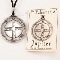 TALISMAN of JUPITER Pentacle Solomon SEAL Good Luck Wealth Pendant Necklace