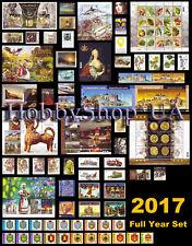Ukraine 2017 Year COMPLETE Full Set of Ukrainian Stamps Blocks Standard Booklet