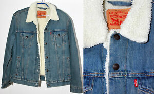 neue, gefütterte Levis Jeans Jacke - Sherpa Trucker Jacket Gr. M, ungetragen Top