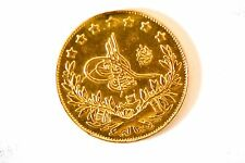 TURKEY, OTTOMAN EMPIRE,  MUHAMMAD V, 100 KURUSH, 1293/31 (1906) GOLD COIN EF-AU