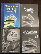 Abeka New 8 grade English Vocabulary Spelling Poetry CD Of Places Grammar Keys