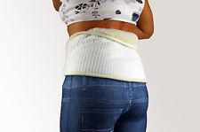 Nierengurt Lammwolle - Nierenwärmer Wärmegürtel Wolle Rücken - Silber - LGL