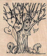 Spooky If The Broom Fits Text D8124 Wood Mounted Rubber Stamp New NORTHWOODS