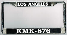 Los Angeles California School Police Dept. KMK-876 Vintage License Plate Frame