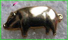 Pin's Animal Un Cochon Couleur Dorée Pig #248