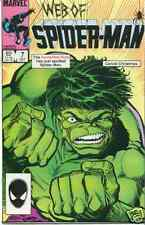 WEB OF SPIDER-MAN #7 INCREDIBLE HULK! 8.5 / VERY FINE+