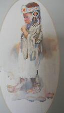 Framed ELLIE WEAKLEY ColorArt Cross Stitch American INDIAN GIRL JCA 12 x 22 New