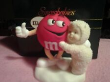 """Snow babies Department 56 m&m's """"Red Is My Favorite Color!"""" Figurine Mib"""