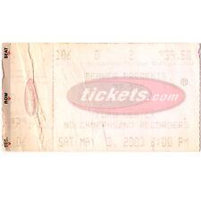 Zz Top & Ted Nugent Concert Ticket Stub Oklahoma City Ok 5/3/03 Ford Center Rare