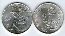 500 LIRE 1981 VIRGILIO FDC ARGENTO 835/1000 REPUBBLICA DI SAN MARINO