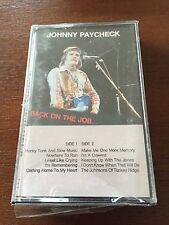 JOHNNY PAYCHECK - BACK ON THE JOB - K7 CASSETTE TAPE CINTA - NEW SEALED