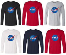 Men's Spaceman Space NASA T-Shirt Unisex Long SLeeves Shirt Crew Neck Baseball