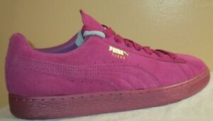 MEN'S PUMA SUEDE CLASSIC + MONO ICED MEADOW MAUVE-TEAM GOLD SHOES 10