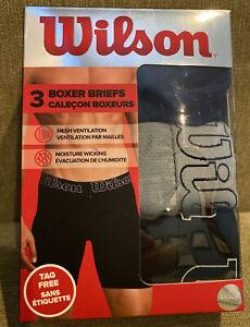 Wilson 3 Pack Boxer Briefs L Black, Blue & Gray