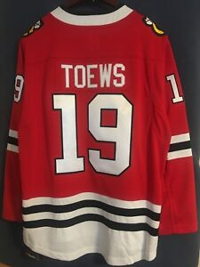 Toews #19●Fanatics Breakaway Jersey●XL●New with labels●Chicago Blackhawks