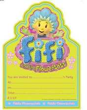 20 Pack FIFI & THE FLOWERTOTS PARTY INVITATIONS & Envelope Birthday Invites Kids