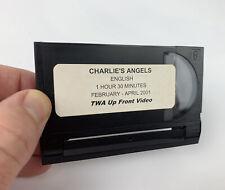 TWA Vintage 8mm Movie CHARLIES ANGELS In Flight Video Film BARRYMORE DIAZ MURRAY
